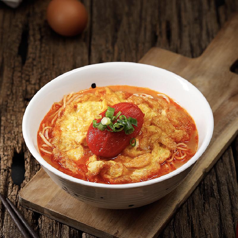 Chengdu Tomato Noodle Soup With Fried Egg